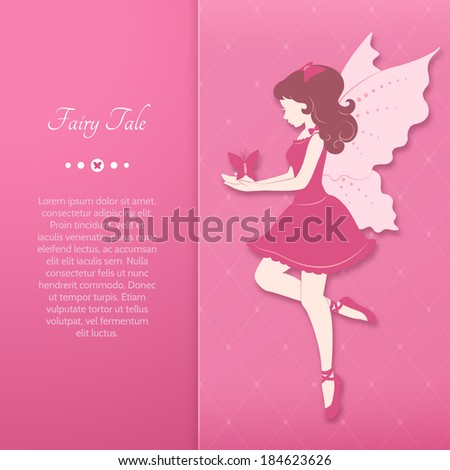 girl in a pink dress with fairy