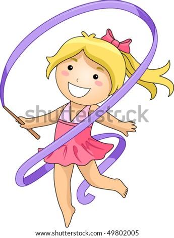 Girl in Gymnastics - Vector