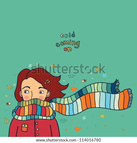 girl in scarf background