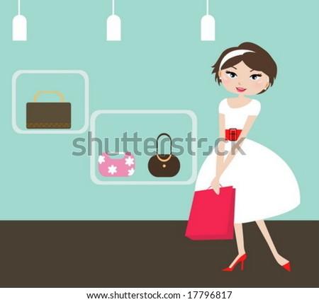 girl in shopping