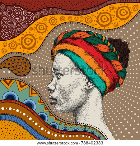 girl in turban with african...