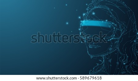 girl in virtual reality helmet