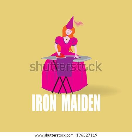 girl ironing  iron maiden funny