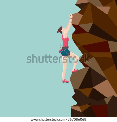 girl  is  climbing on a