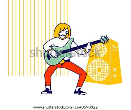 girl musician practicing