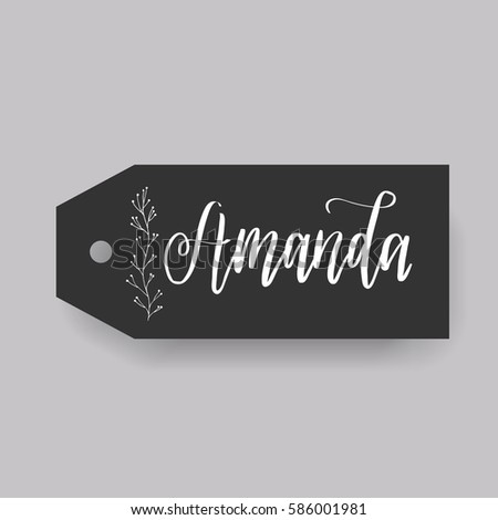 girl name amanda calligraphy