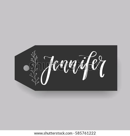 girl name jennifer calligraphy