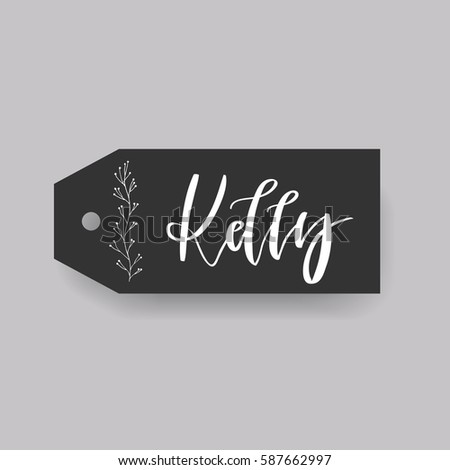 girl name kelly calligraphy
