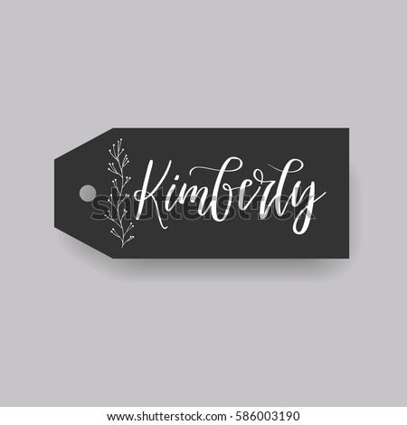 girl name kimberly calligraphy