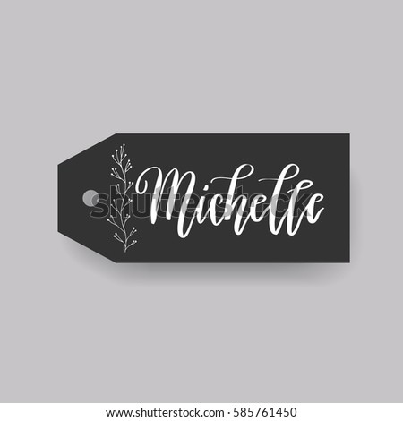 girl name michelle calligraphy