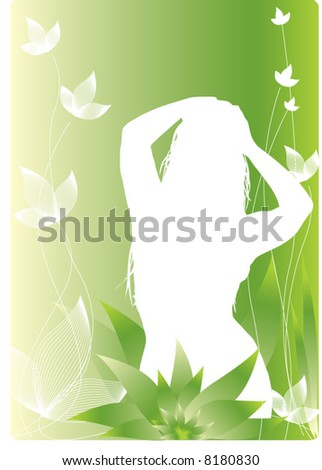 girl on floral background #8180830