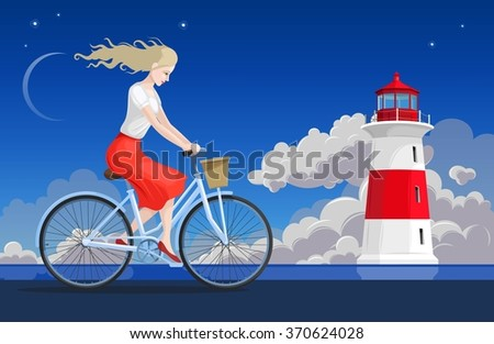 girl on the bicycle and