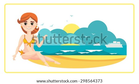 girl on the seashore