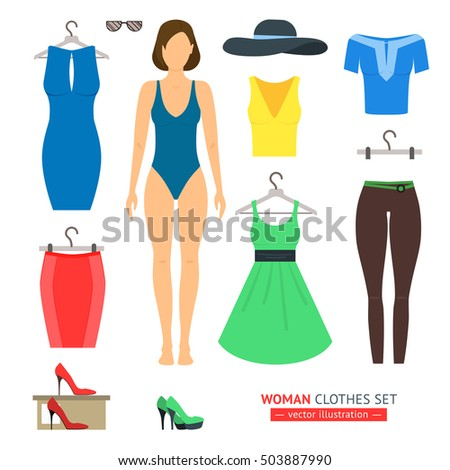 girl or woman clothes set like