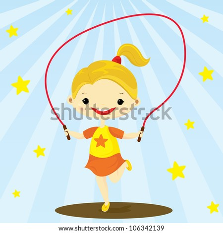 girl playing jumping rope