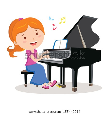 girl playing piano pianist