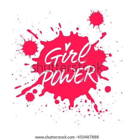 girl power handwritten