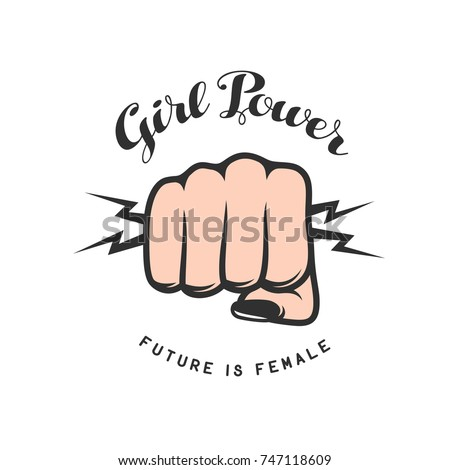 girl power quote with female