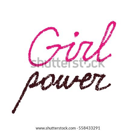 girl power  textured lettering