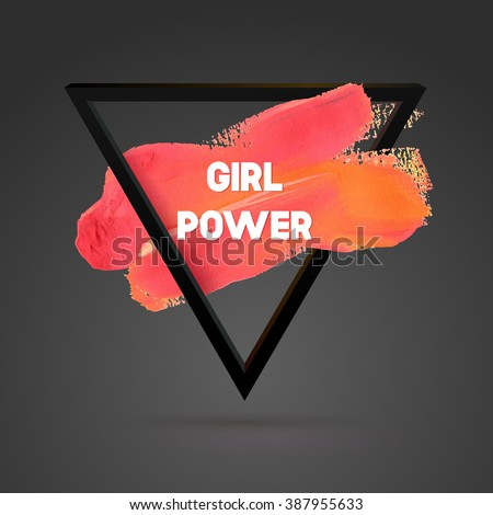 girl power triangle motivation