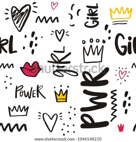 Shutterstock Girl Power Vector illustration and lettering