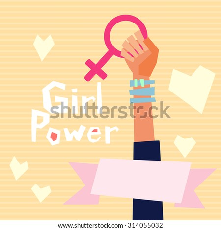 girl power vector illustration