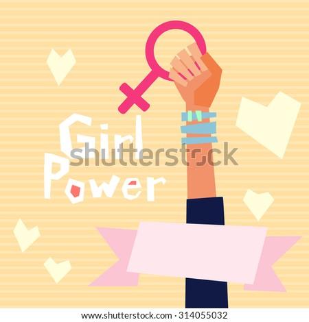 girl power vector illustration