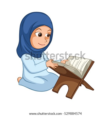 girl reading quran the holy