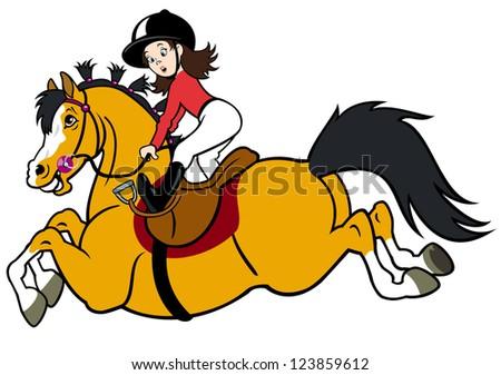 girl riding horse children
