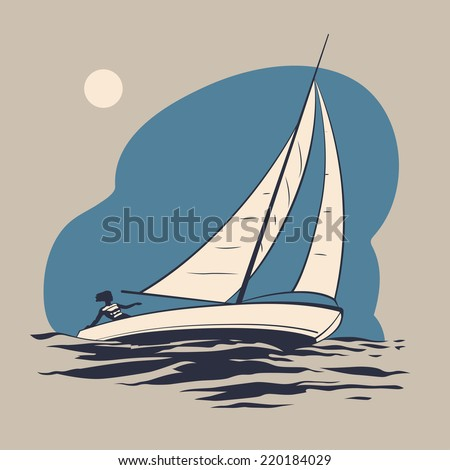 girl riding on a sailing boat