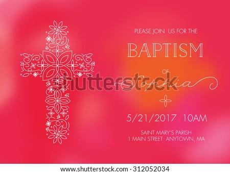 Christening Invitation Free Vector Art 50 Free Downloads