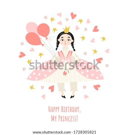 girl's birthday card with a