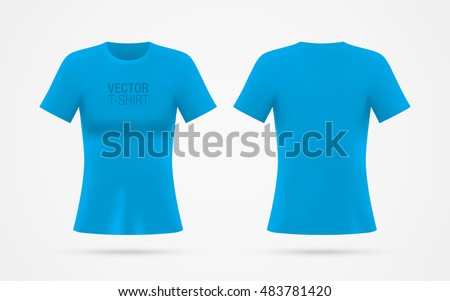 girl's blue vector t shirt