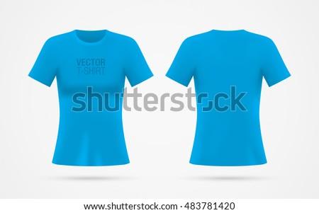 girl's blue vector t shirt