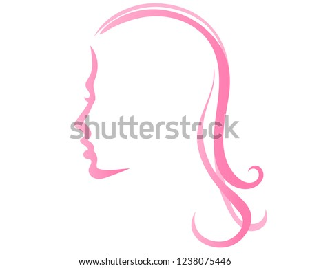 girl's face silhouette with