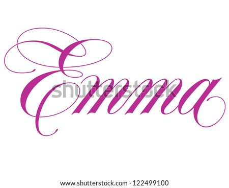 The Name Emma In Cursive on Latest Tattoo Writing Styles