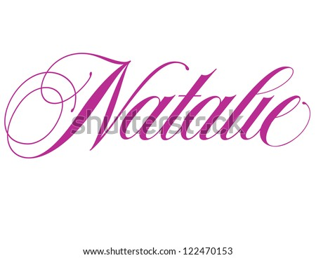 girl's name elegant vector