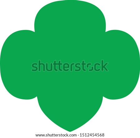 Girl Scouts Trefoil Vector Silhouette Stock photo ©