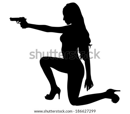 girls with guns download free vector art stock graphics images