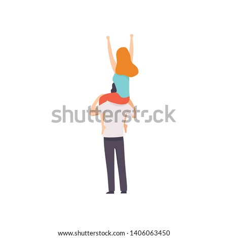 girl sitting on shoulders of