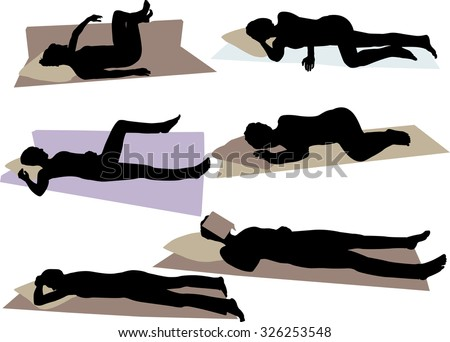 girl sleeping vector silhouette