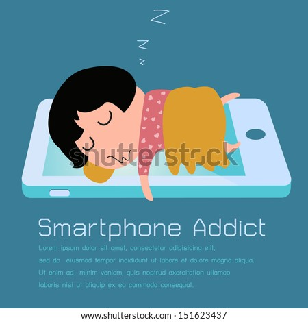 girl sleeping with smartphone
