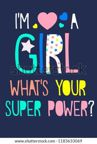 girl slogan super power