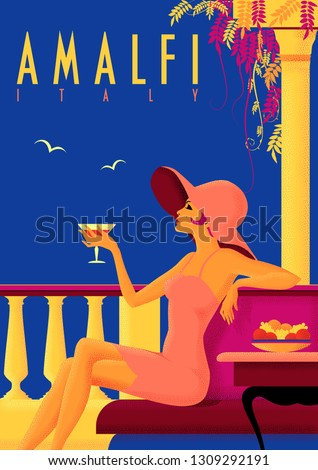 girl with a cocktail on