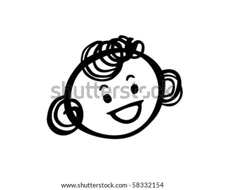 girl curly hair clipart