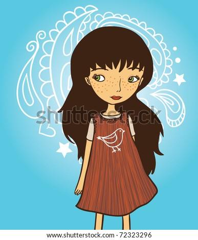girl with dark hair