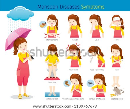 girl with monsoon diseases