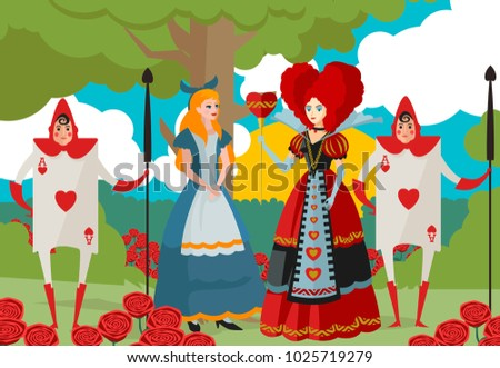girl with queen of hearts and