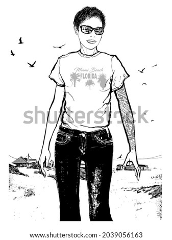 girl with tattoo and short hair
