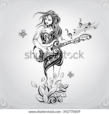 girl with the guitar in the